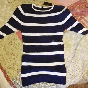 Express Sweaters - See pics Express Blue White striped ribbed sweater